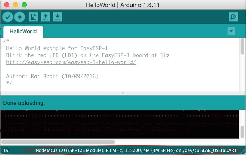 Arduino IDE setup for EasyESP-1